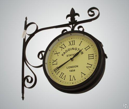 Часы на кронштейне на солнечной батарее Паддингтон диаметр 25 см