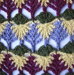 pine tree stitch: Interesting Stitches, Stitches Patterns, Colors Combinations, Videos Tutorials, Crochet Stitches, Leaves Stitches, Video Tutorials, Crochet Patterns, Crochet Knits