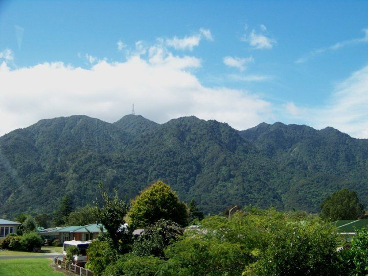 Mt. Te Aroha on a beautiful day - view from my bedroom.