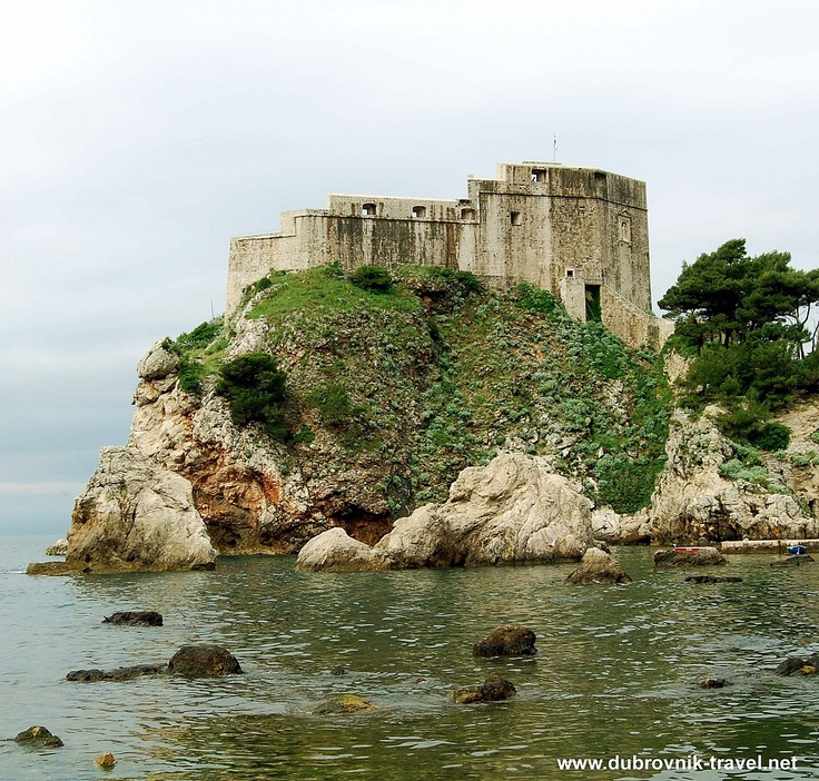Cliffs and St. Lawrence Fortress, Dubrovnik
