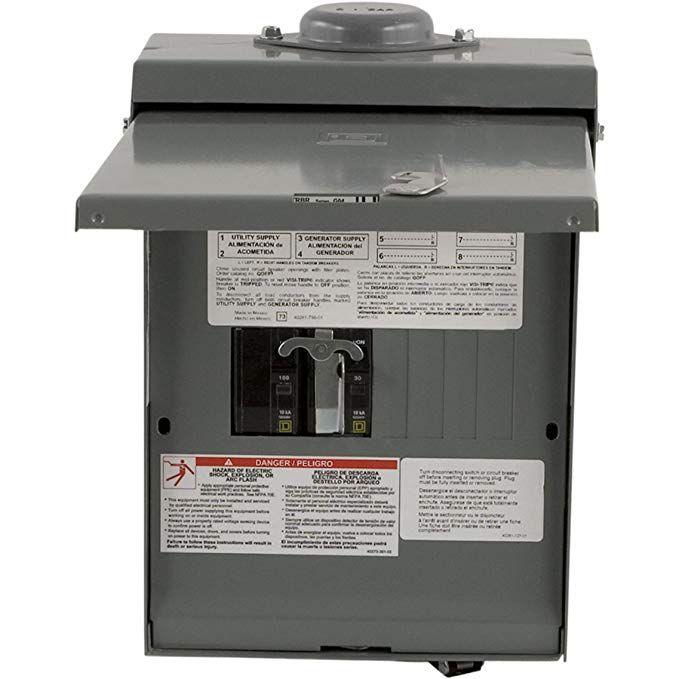 Square D By Schneider Electric Qo1dm10030trbr 30 Amp Generator Main Breaker Outdoor Manual Transfer Switch With 30 Amp Twi Transfer Switch Breakers Electricity
