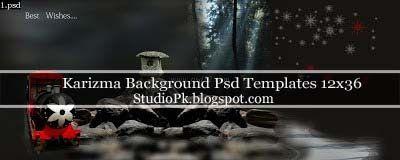 Karizma Backgrounds Psd Templates 12x36
