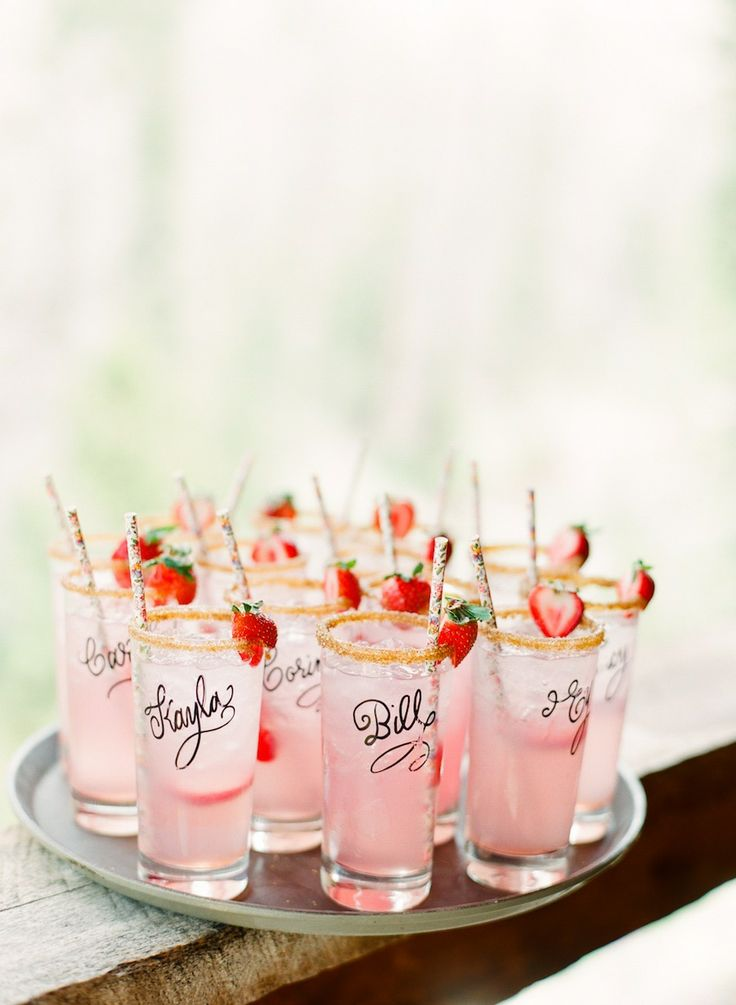 Have your calligrapher write guests name on glasses. Doubles up as a wedding favor.