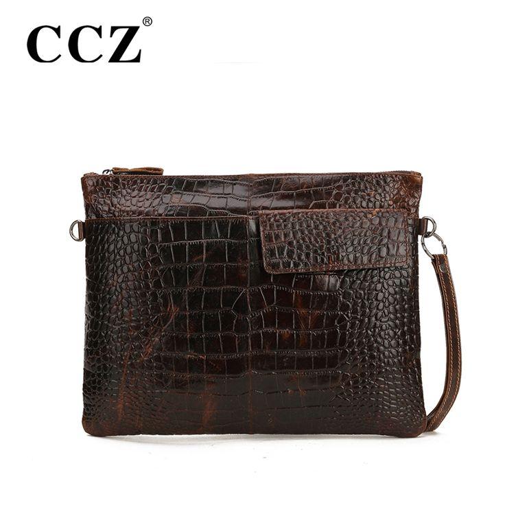 Encontrar Más Bolsos Bandolera Información acerca de Ccz negocio de moda  genuina de cuero hombres de