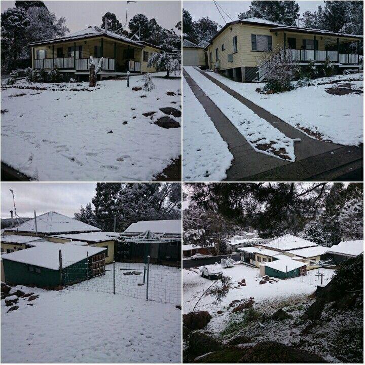 #granitebelt snow #mybackyard