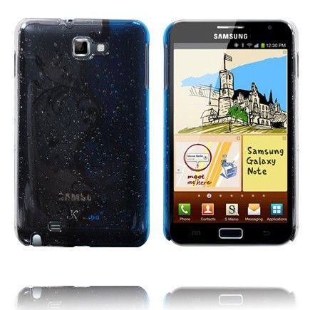 Four Seasons (Valkoinen & Sininen) Samsung Galaxy Note Suojakuori