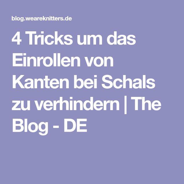 4 Tricks um das Einrollen von Kanten bei Schals zu verhindern | The Blog - DE