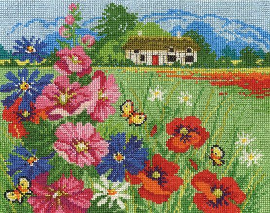 Summer Meadow Cross Stitch Kit £18.20 | Past Impressions | DMC