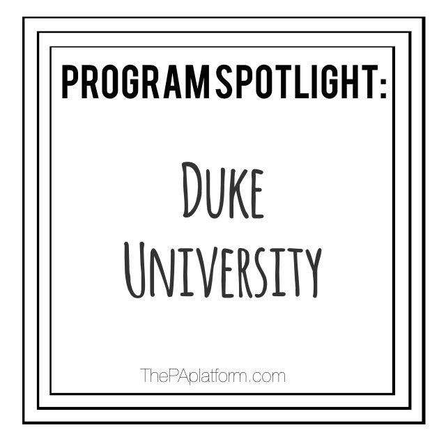 Duke's PA program is consistently ranked extremely high every year, and  their standards and requirements reflect that.  Here's some info if Duke is  at the top of your list!  Location:  Durham, North Carolina  Number of students:  88  Application Cycle:  Opens in April.  CASPA by Oct 1; supplemental  application by Nov. 1 - priority if complete by August 15!  Interview dates:  October - January (~240 invites) with rolling admissions  Start date:  August  Length of Program:  24 months…