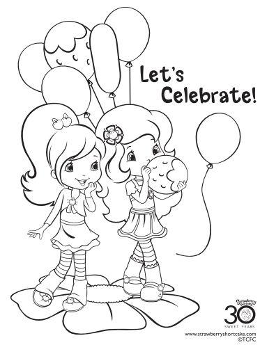 12 Strawberry Shortcake Birthday Party Printable Coloring ...