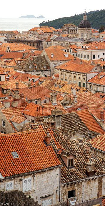 Dubrovnic Croatia by Jack Brauer - look at all those new roofs (red not brown) because of the war.