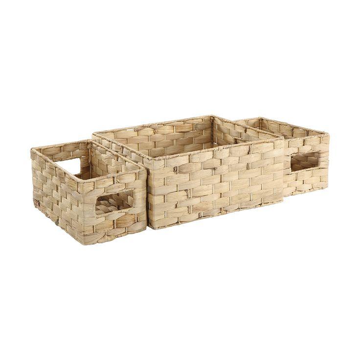 3 Rectangle Baskets | Kmart