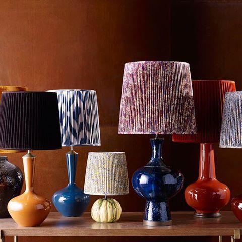 """""""A collection unrestricted by colour or shape. Structured, geometric patterns sit happily with organic, textured forms and lampshades with sumptuos velvets and fabolous prints are luxuriously decorated with all the richness of the spice-trail"""" #inspireme #interiordetails #interiorarchitecture #interiordesign #designideas #ethnic #nature #africa #water #crystals #naturalarchitecture #luxuryhomes #luxuryinterior #luxurylifestyle #texture #metallica #rich #warm #rust #hot #earth #fire #spicy…"""