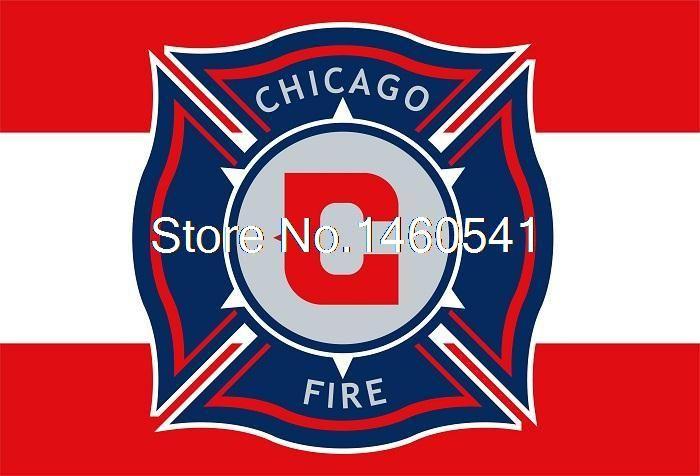 Чикаго Файр Флаг 3ft x 5ft Полиэстер MLS Чикаго Файр Баннер Летающий Размер № 4 144*96 см QingQing флаг