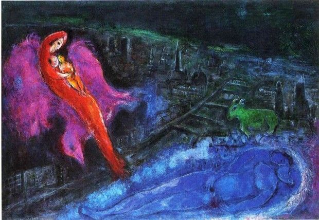 Marc Chagall, Bridges Over The Seine, 1954, Kunsthalle Hamburg, Hamburg