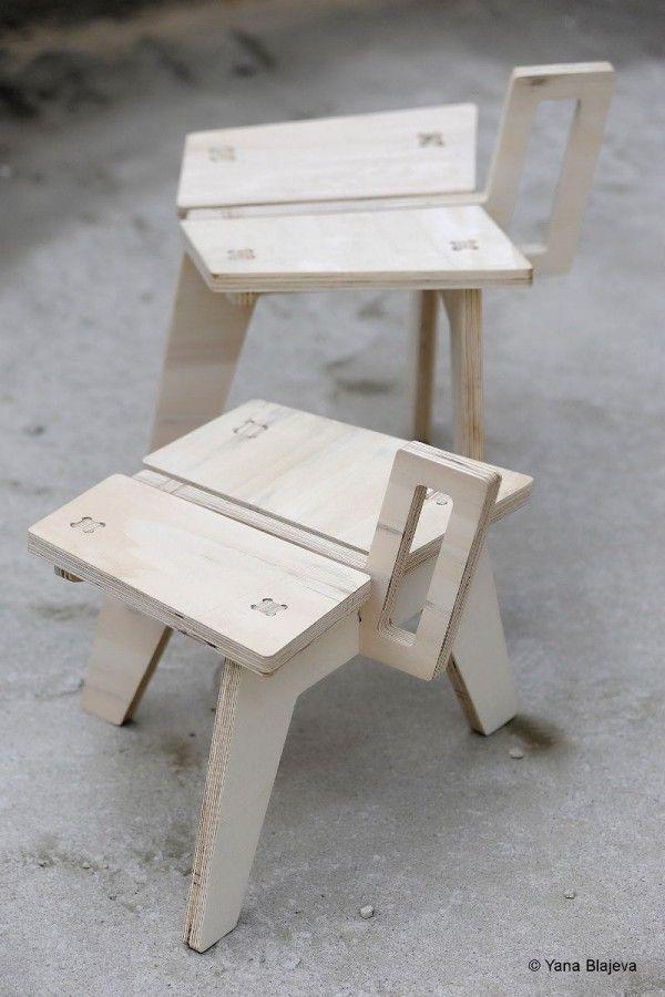 Kolibri stool, by Konstantin Achkov.