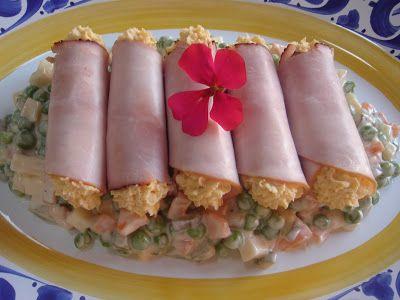 Nem vagyok mesterszakács: Klasszikus hidegtál: házi franciasaláta, tojáskrémmel töltött sonkarolád és tojás