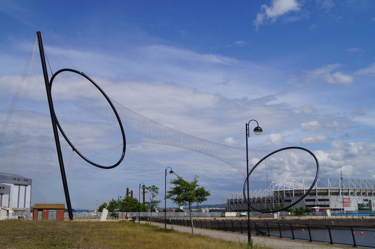 Temenos, Middlehaven (one of the Tees Valley Giants. Anish Kapoor & Cecil Balmond 2010.