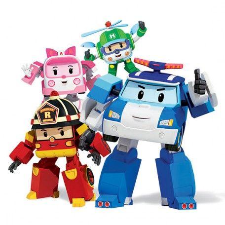 Robocar Poli Transformer Toys Deluxe -4pcs