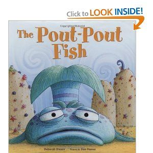He's a pout-pout fish with a pout-pout face and he spreads the dreary wearies all over the place. Blub. Bluuub. Bluuuuuuuuub.