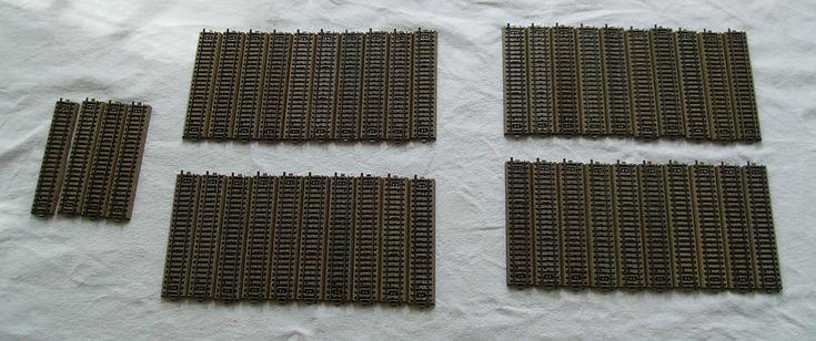 Märklin H0 44 x Schienen gerade 5106 M-Gleis Metall Punktkontakt