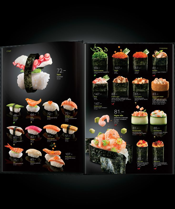 Concept and design of new communications for the chain of japanese restaurants.
