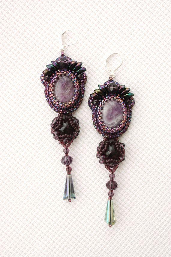 Orecchini Orecchini fatti a mano di perline di ArtBeadedHouse