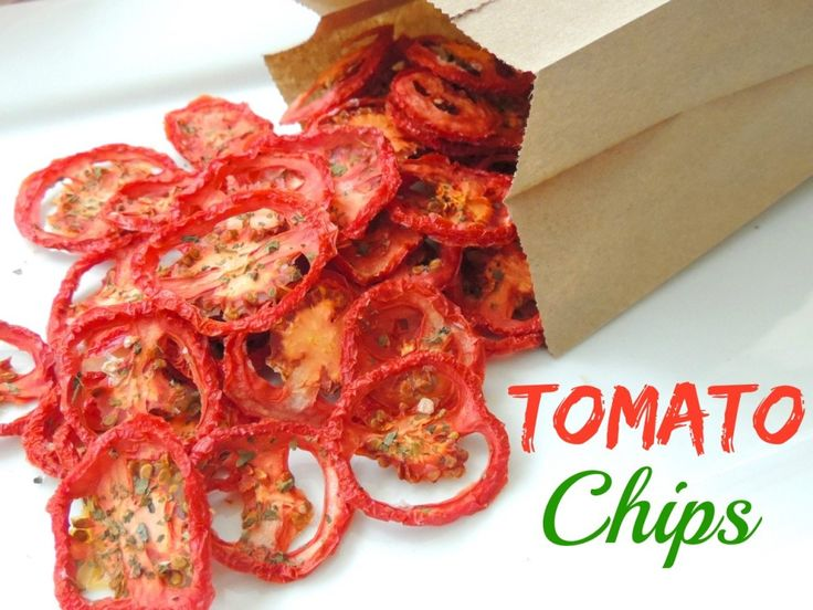 Southern Plate: Tomato Chips!  AMAZING! Potato chips never tasted anywhere near this good, PLUS these are healthy!