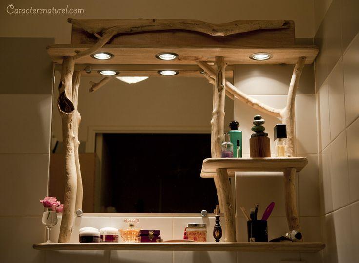 Meuble de salle de bain en bois flotté par Benoit Galloudec -  http://www.caracterenaturel.com