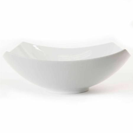"Gibson Studio Bistro Dining 9.5"" Square Bowl, White"