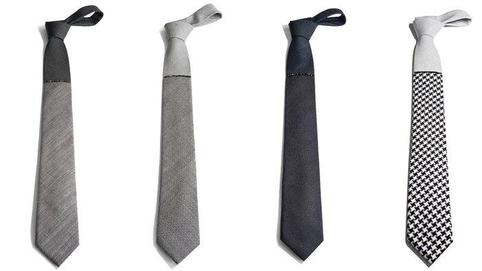 Color-Block Tie with Hematite Stones  / Title of WorkGentlemens Corner, Boys Style, Hematite Stones, Colors Block Ties, Men Stuff, Hair Ties, Men Fashion, Menswear Details, Men Suits
