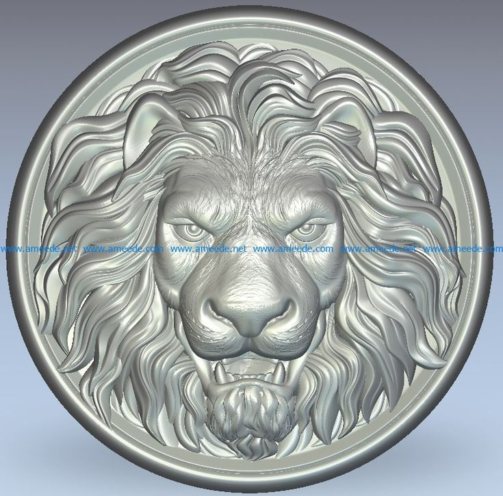 Lion King wood carving file stl for Artcam and Aspire