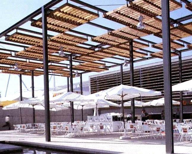 172 best images about urban canopies on pinterest public for Steel shade structure design