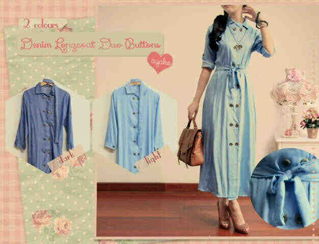 AA new maxi holly 2w, seri@83, bahan denim fit~ L ready 25nov