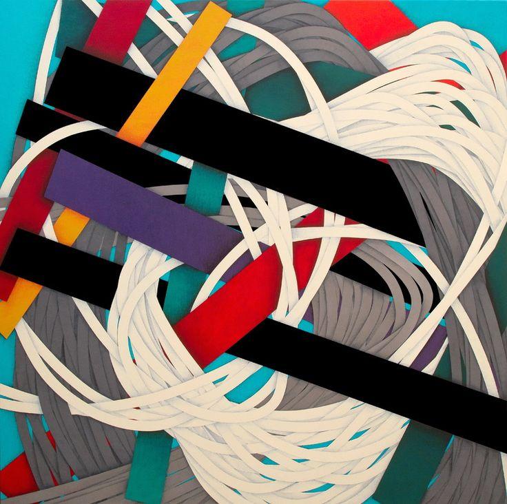 "Saatchi Online Artist: Luciano de Liberato; Acrylic, 2013, Painting ""BARRICADE (2013)"""