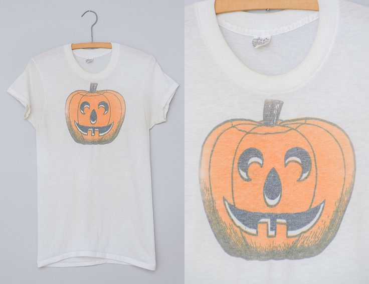 60s Halloween T Shirt Carved Pumpkin K-Mart Waterprint Thin Cotton Punk T-shirt by RoslynVTGTradingCo on Etsy https://www.etsy.com/listing/470019204/60s-halloween-t-shirt-carved-pumpkin-k