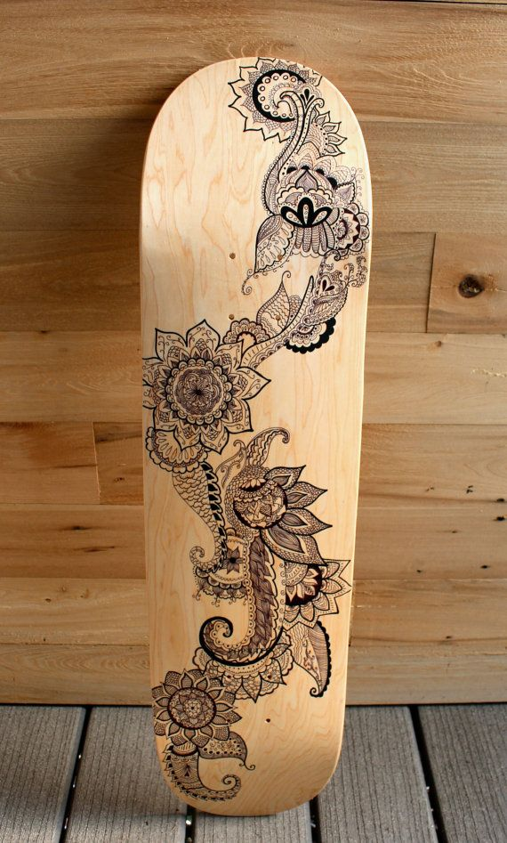 Hand Painted Skateboard by LavaBoards. Gorg!