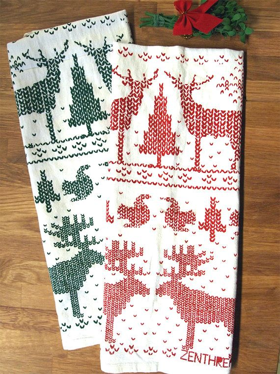 Set of two large towels CHRISTMAS Sweater Screen by ZenThreads. Get Sam and Dean to do the work...