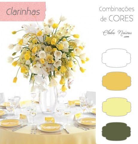 Cores Claras para Decoração de Casamento - Dois tons de amarelo, branco e verde