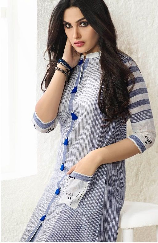 #offwhite #grey #printdesign #kurti | grey with white colour Kurtis | trends Kurtis | embroidered inner heavy santoon | party wear | white with grey colour kurti | grey and whitefloral design Kurtis