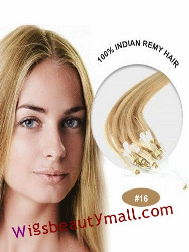 55 best micro loop ring hair extensions images on pinterest 34 inches 100 strand straight micro loop ring indian remy human hair extensions golden blonde pmusecretfo Choice Image