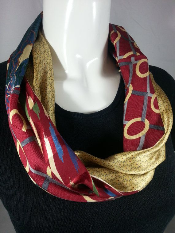 17. Silk Cowl Infinity Scarf from Neck Ties Neckties by ByTulle