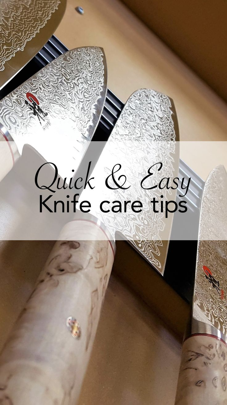 So you want to put your knife in the dishwasher? Stop! Don't do it!  This and more tips for making sure your most-used kitchen tool lasts a long time.  Clink the link to find out more.