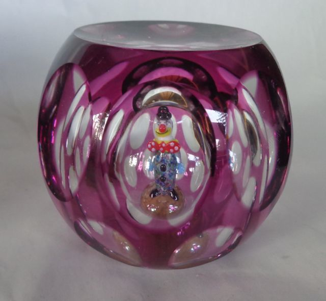 Perthshire Paperweight 1998 JoJo The Clown Courtenay Antiques 367-4th St Courtenay BC
