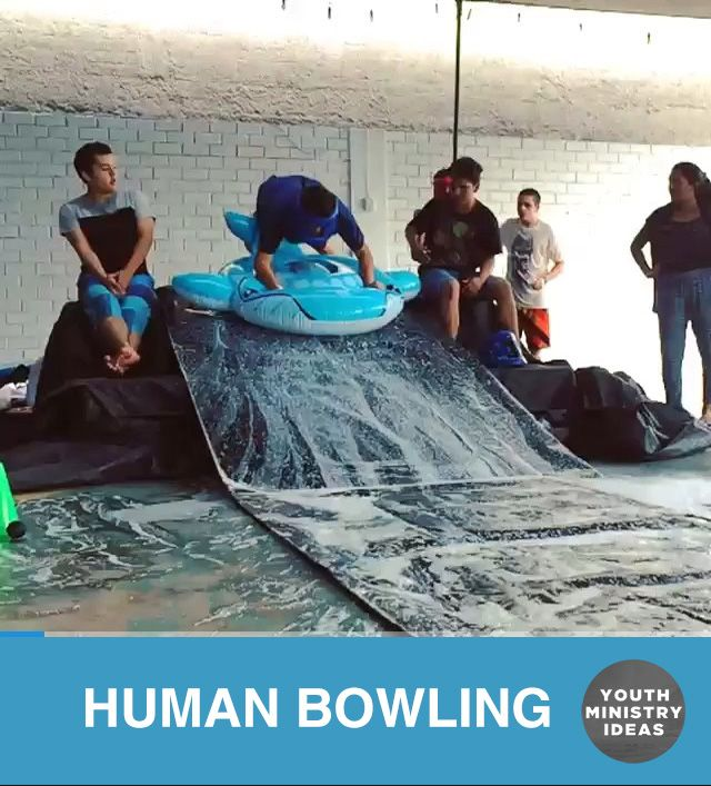 @adamdgordon taking #humanbowling to a whole new level down in Puru! Youth Ministry Ideas and Games.