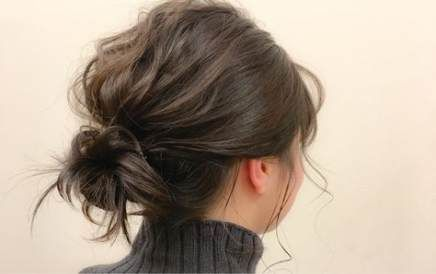 55+ Trendy Hair Updos Low Simple  #simple #trendy #updos