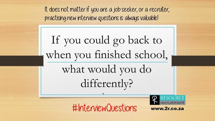 There is nothing wrong with wanting to change the outcome of your life, or being happy with the way things are. But have you given it some thought, do you know who you are and where you are going? #InterviewQuestions #resourcerecruitment For more interview hints and tips visit www.2r.co.za
