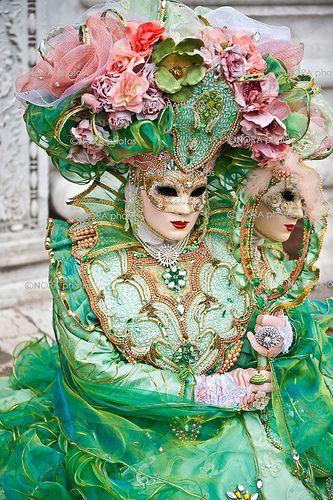 Mask Reflection - Carnival of Venice, Italy