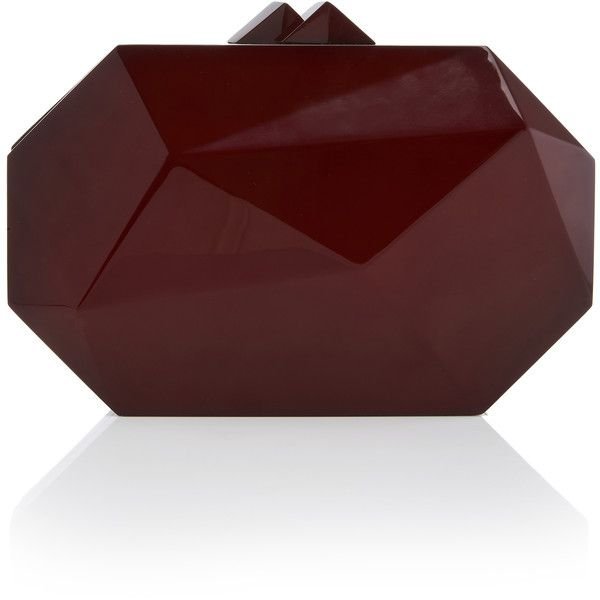Neo Radiant Clutch | Moda Operandi (16.968.755 IDR) ❤ liked on Polyvore featuring bags, handbags, clutches, red handbags, red clutches, geometric handbag, elie saab and elie saab purse