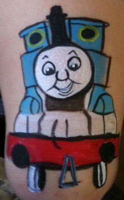 Train+face+painting | Facepainting- Cheek Art - train -
